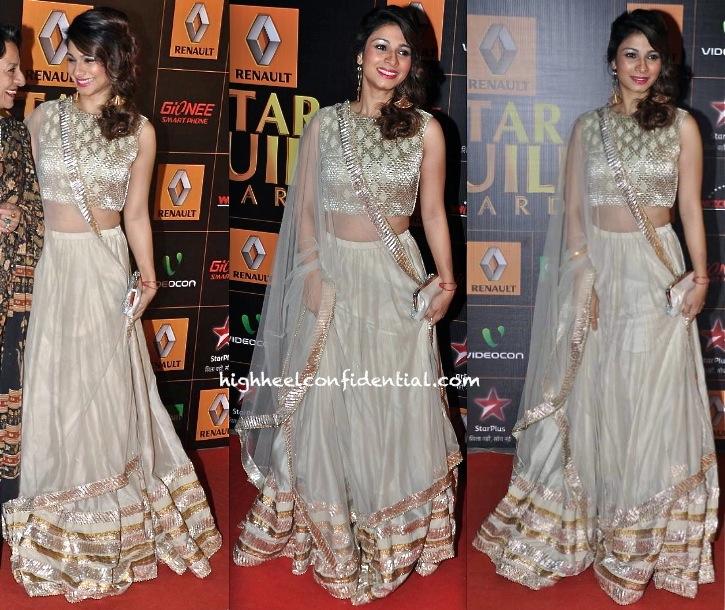 Tanisha Mukherjee In Payal Singhal At Star Guild Awards 2014