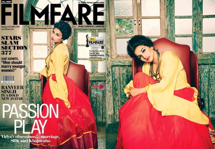 Vidya Balan On Filmfare January 2014-1