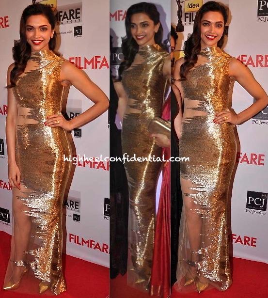 filmfare awards 2014-deepika padukone-gaurav gupta sheer gown