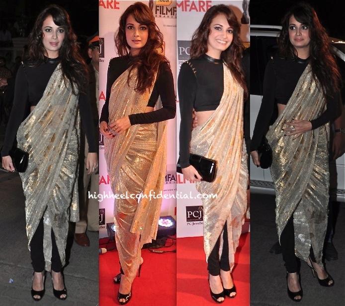 filmfare awards 2014-dia mirza-shantanu and nikhil