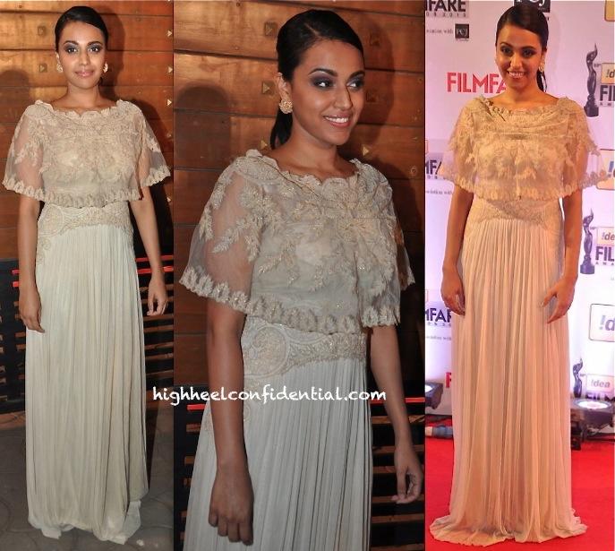 filmfare awards 2014-swara bhaskar-geisha designs