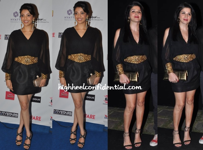 kajal-aggarwal-maheep-kapoor-filmfare-nominations-party-2014