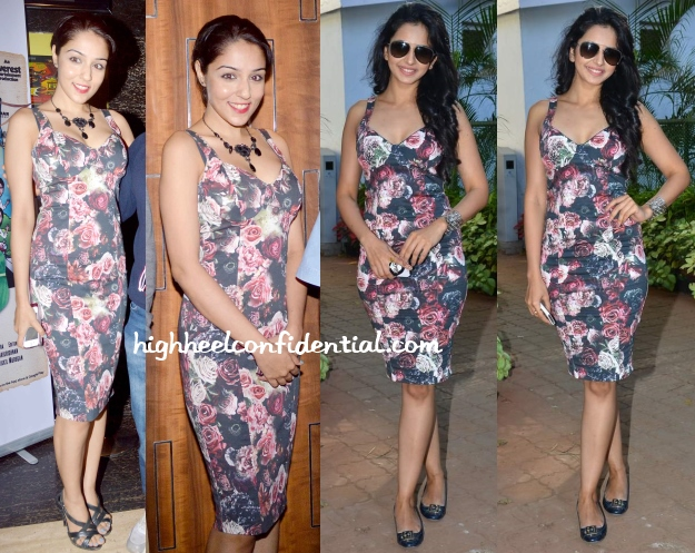 lekha-washington-rakul-preet-zara-floral-dress