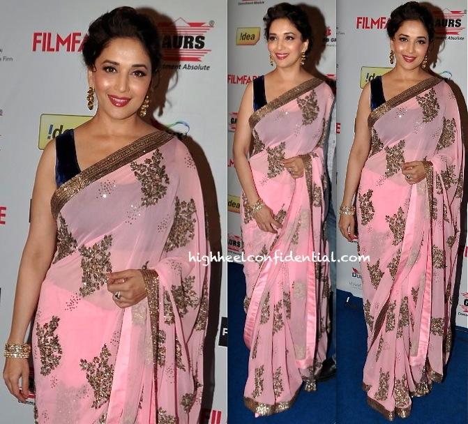 madhuri dixit at filmfare awards nominations bash 2014