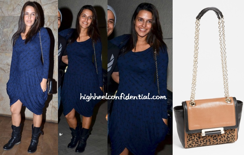 neha-dhupia-dvf-leopard-print-cross-body-joe-b-carvalho-screening