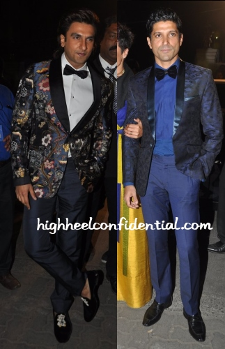 ranveer-singh-farhan-akhtar-bow-tie-filmfare-awards-2014