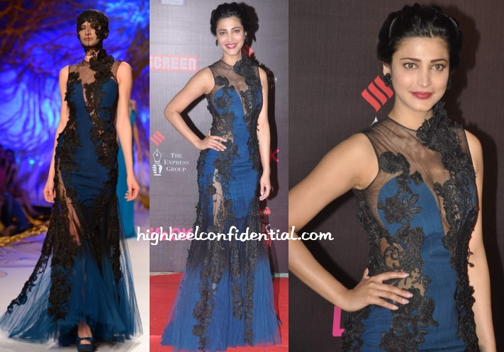 shruti-haasan-gaurav-gupta-couture-screen-awards-2014