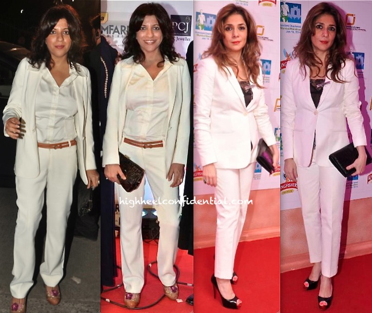 zoya akhtar at filmfare awards 2014 and haseena jethmalani at kingfisher event