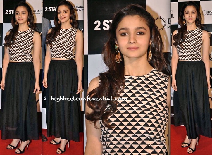 Alia Bhatt In Payal Singhal At '2 States' Trailer Launch