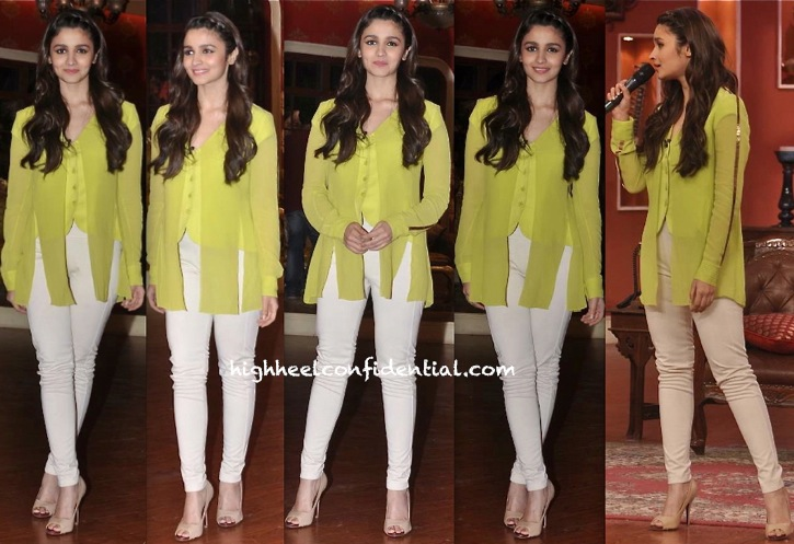 Alia Bhatt On 'Comedy Nights With Kapil' Sets For Highway Promotions-2