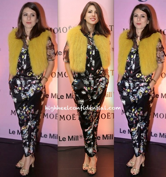 Cecilia Morelli Parikh In Erdem And Isabel Marant At Moët & Chandon And Le Mill Event