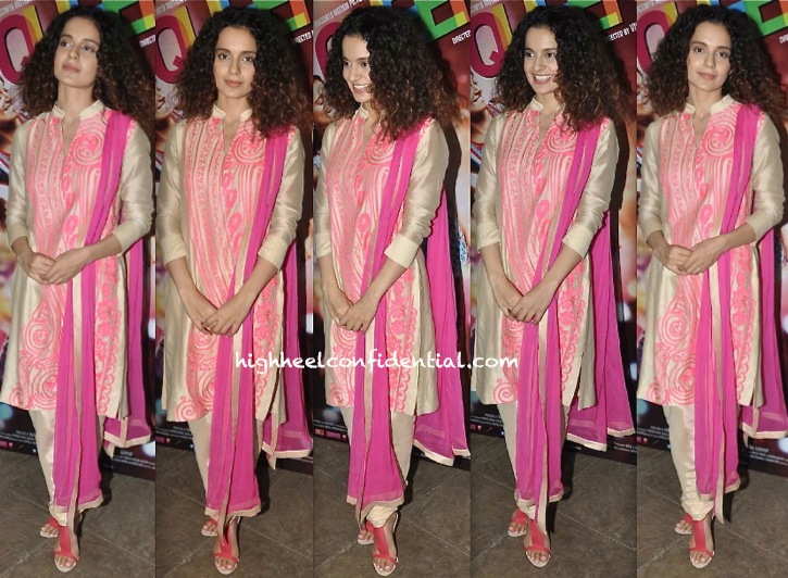 Kangna Ranaut At Queen Promotions