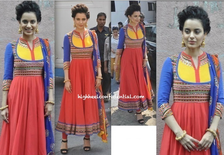 Kangna Ranaut On 'India's Got Talent' Sets For 'Queen' Promotions-2