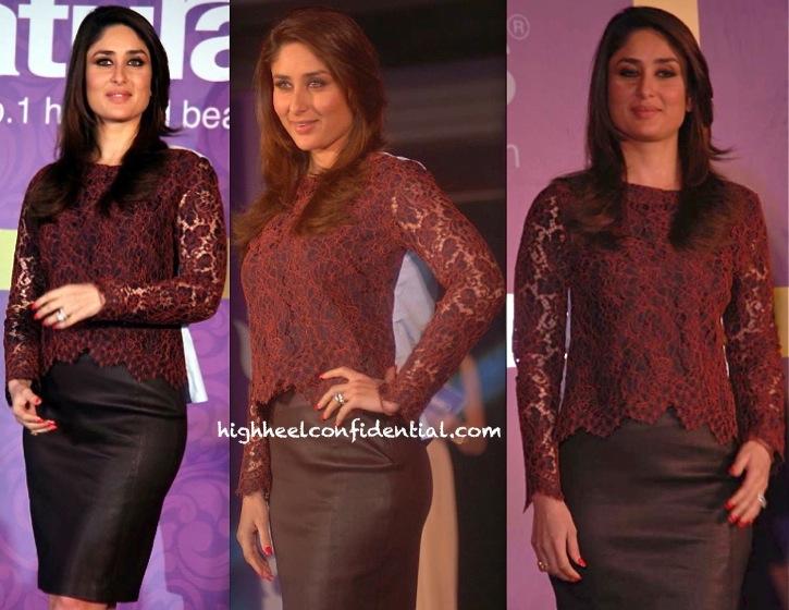 Kareena Kapoor In Carven And DvF At Naturals Press Meet-2