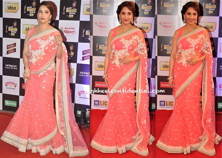 Madhuri Dixit In Sabyasachi At Mirchi Music Awards 2014