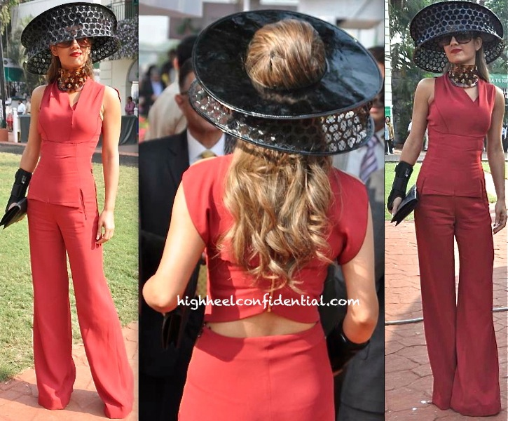 Natasha Poonawala In Roland Mouret And Alexander McQueen At McDowell Signature Derby-2