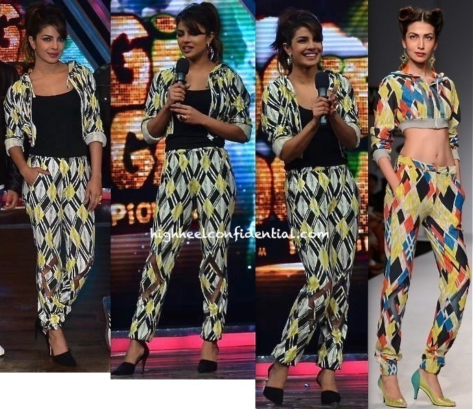 Priyanka Chopra In Surendri On Sets Of 'Boogie Woogie' For 'Gunday' Promotions-1