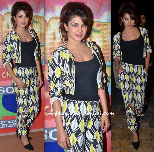 Priyanka Chopra In Surendri On Sets Of 'Boogie Woogie' For 'Gunday' Promotions-2