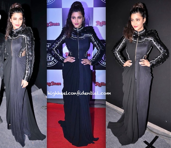 Shruti Haasan In Alpana Neeraj At Rolling Stone Jack Daniels Rock Awards 2014-2