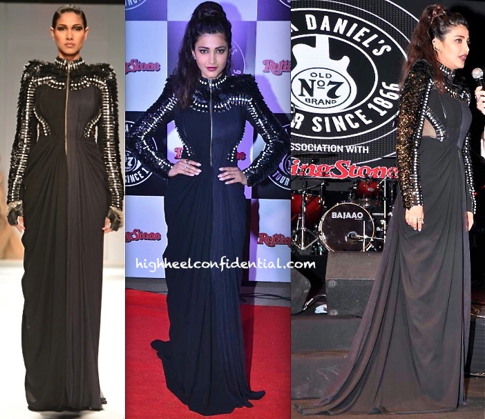 Shruti Haasan In Alpana Neeraj At Rolling Stone Jack Daniels Rock Awards 2014