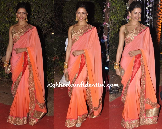 deepika-padukone-ahana-vaibhav-wedding-reception-jade-sari
