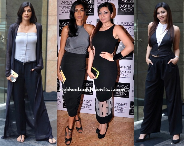 Anushka Manchanda And Shonali Nagrani In DRVV And Nikhil Thampi At LFW Summer 2014-2