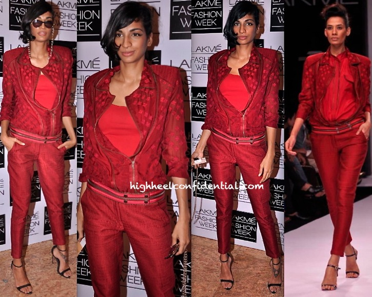 Anushka Manchanda In Nupur Kanoi At Lakme Fashion Week