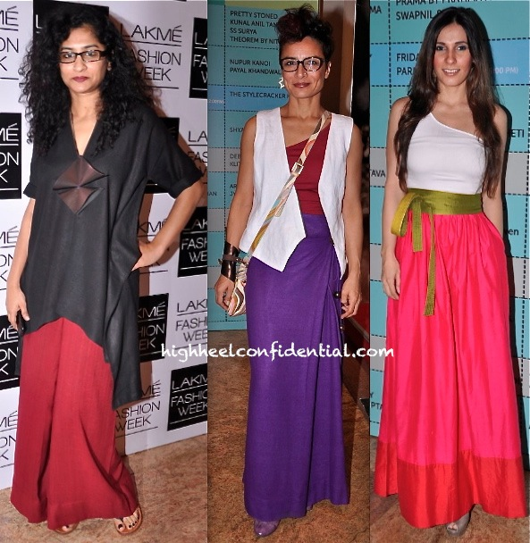 Gauri Shinde, Adhuna Akhtar And Ramona Arena In Payal Khandwala At Lakme Fashion Week -1