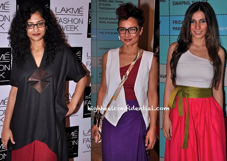 Gauri Shinde, Adhuna Akhtar And Ramona Arena In Payal Khandwala At Lakme Fashion Week -2