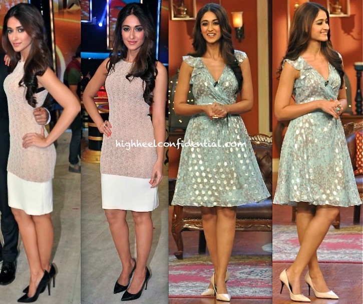 Ileana D'Cruz In DvF On Comedy Nights With Kapil Sets And In Arpan Vohra On India's Got Talent Sets-2