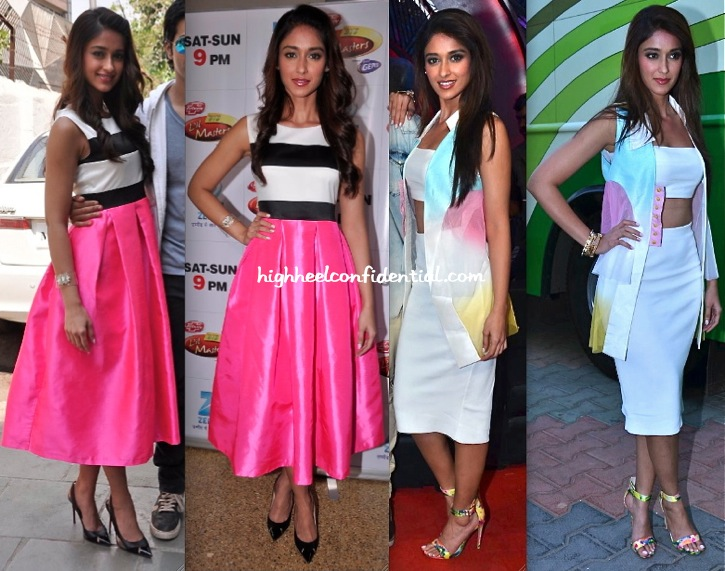 Ileana D'Cruz On Sets of Lil Masters DID (In The Source) & Boogie Woogie (In Aniket & Zara) For Main Tera Hero Promotions-1