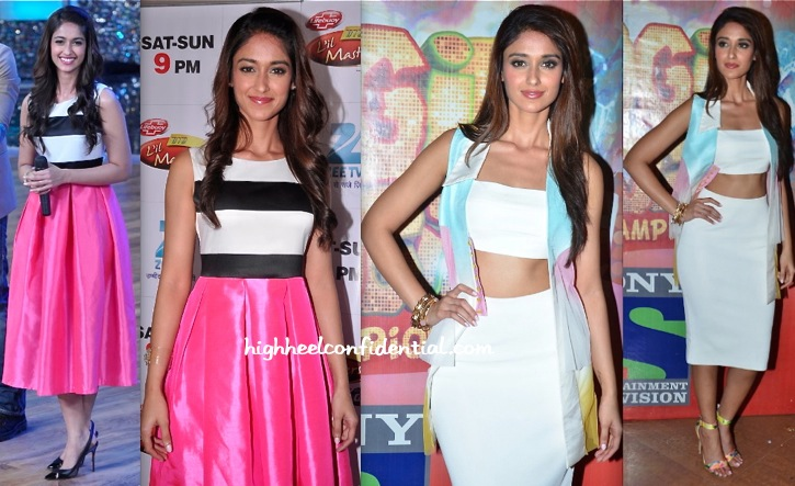 Ileana D'Cruz On Sets of Lil Masters DID (In The Source) & Boogie Woogie (In Aniket & Zara) For Main Tera Hero Promotions-2