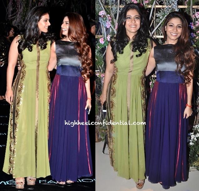 Kajol And Tanisha At Manish Malhotra's Show, LFW Summer 2014-2