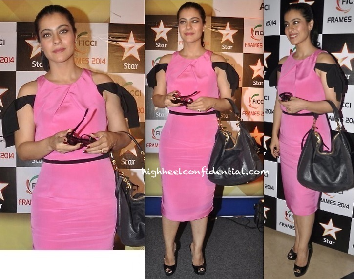 Kajol In Prabal Gurung At FICCI Frames 2014-2