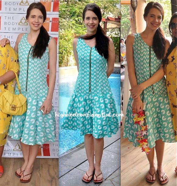 Kalki Koechlin wears Yogesh Chaudhary to a recent inch by inch Brunch