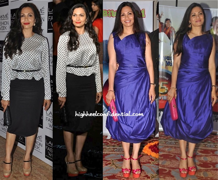 Maria Goretti At Lakme Fashion Week And At Vashu Bhagnani 25 Years Celebration
