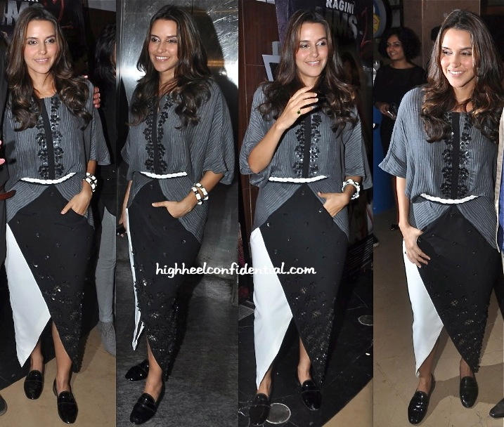 Neha Dhupia At 'Ankhon Dekhi' Screening-1