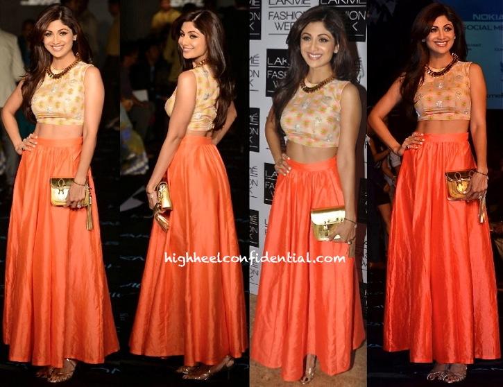 Shilpa Shetty In Neeta Lulla At Lakme Fashion Week-1