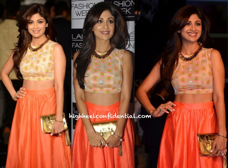 Shilpa Shetty In Neeta Lulla At Lakme Fashion Week-2