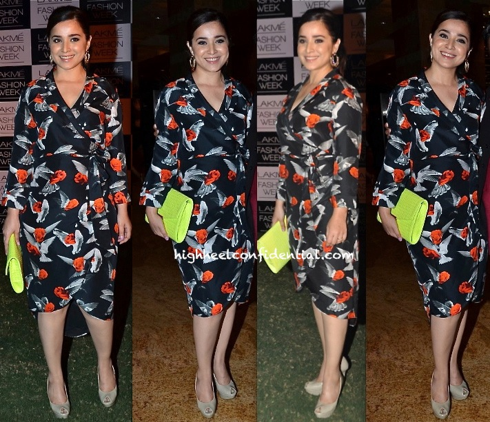 Simone Singh In Gaurav Gupta At Lakme Fashion Week