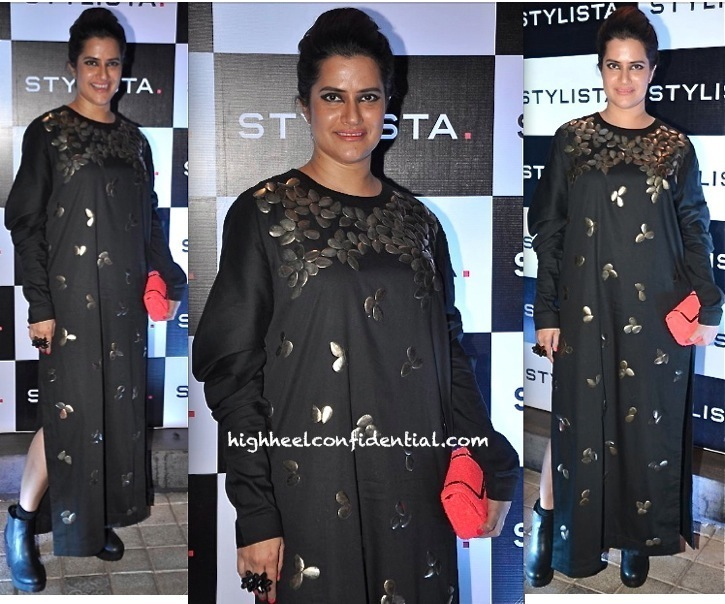 Sona Mohapatra In Kallol Datta At The Stylista Party