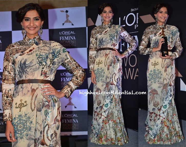Sonam Kapoor In Anamika Khanna At L'Oreal Event-2