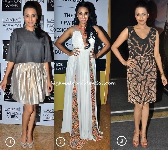 Swara Bhaskar In Anand Bhushan At 'Bollywood In Britain' App Launch & In Nishka Lulla & Ritika Mirchandani At LFW-1