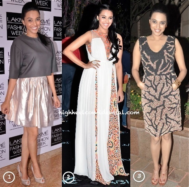 Swara Bhaskar In Anand Bhushan At 'Bollywood In Britain' App Launch & In Nishka Lulla & Ritika Mirchandani At LFW-2