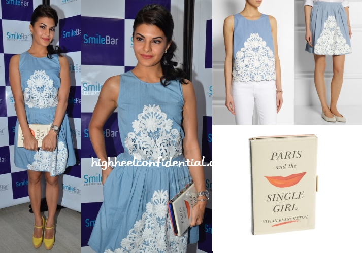 jacqueline-fernandez-moschino-cheap-chic-kate-spade