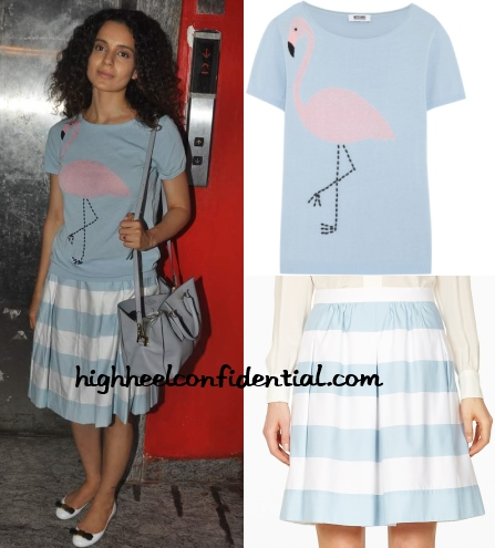 kangana-moschino-cheap-chic-flamingo-sweater