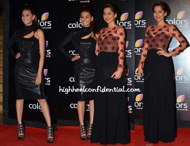 shibani-dandekar-anusha-versace-ilk-colors-tv-party
