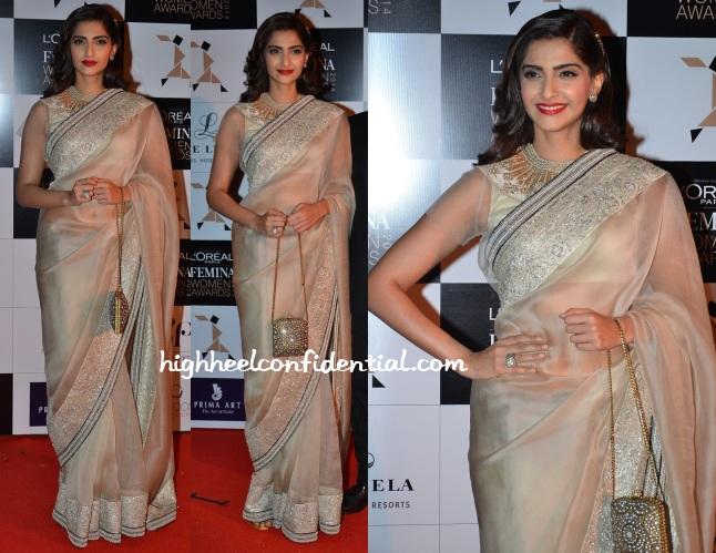 sonam-kapoor-anamika-khanna-loreal-femina-women-awards-2014