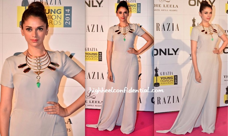 Aditi Rao Hydari at Grazia Young Fashion Awards 2014-gauri and nainika