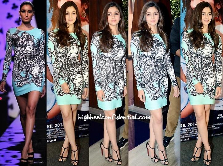 Alia Bhatt Wears Pankaj And Nidhi To '2 States' Promotion In Delhi-1